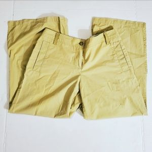 Anthropologie Sitwell Womens Olive Green Capris •2